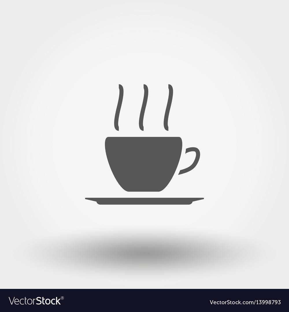 Hot coffee line icon vector image