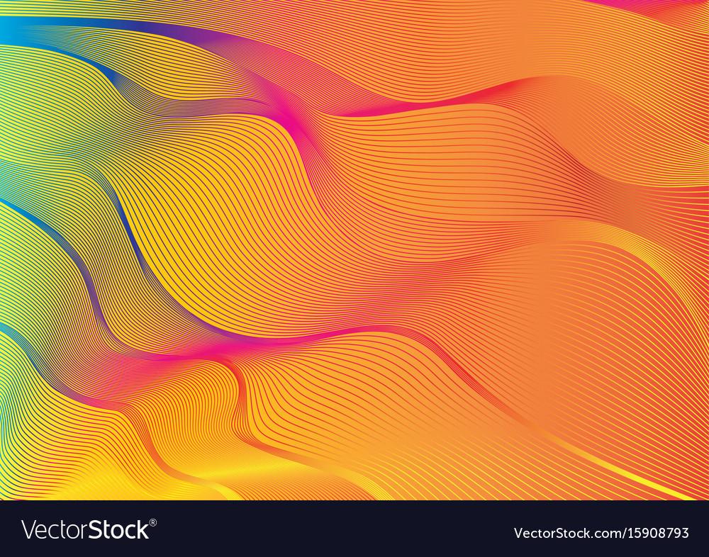Spectrum colour outlines blending vector image