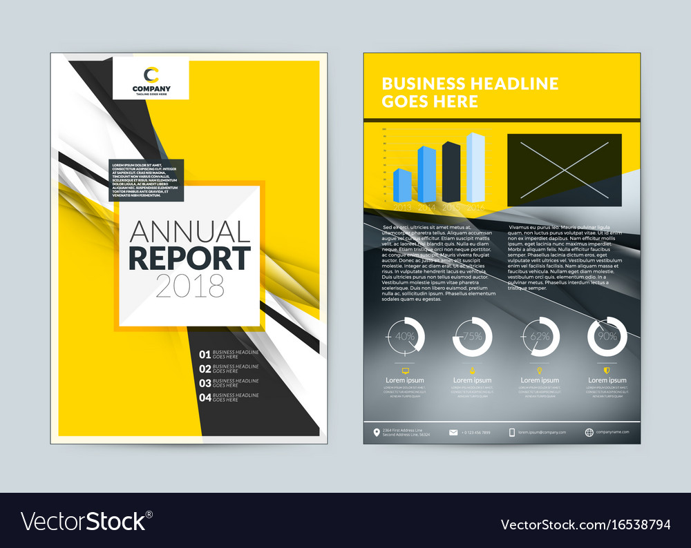 Annual Report Cover Design Template Flyer Mockup Vector Image  Annual Report Cover Template