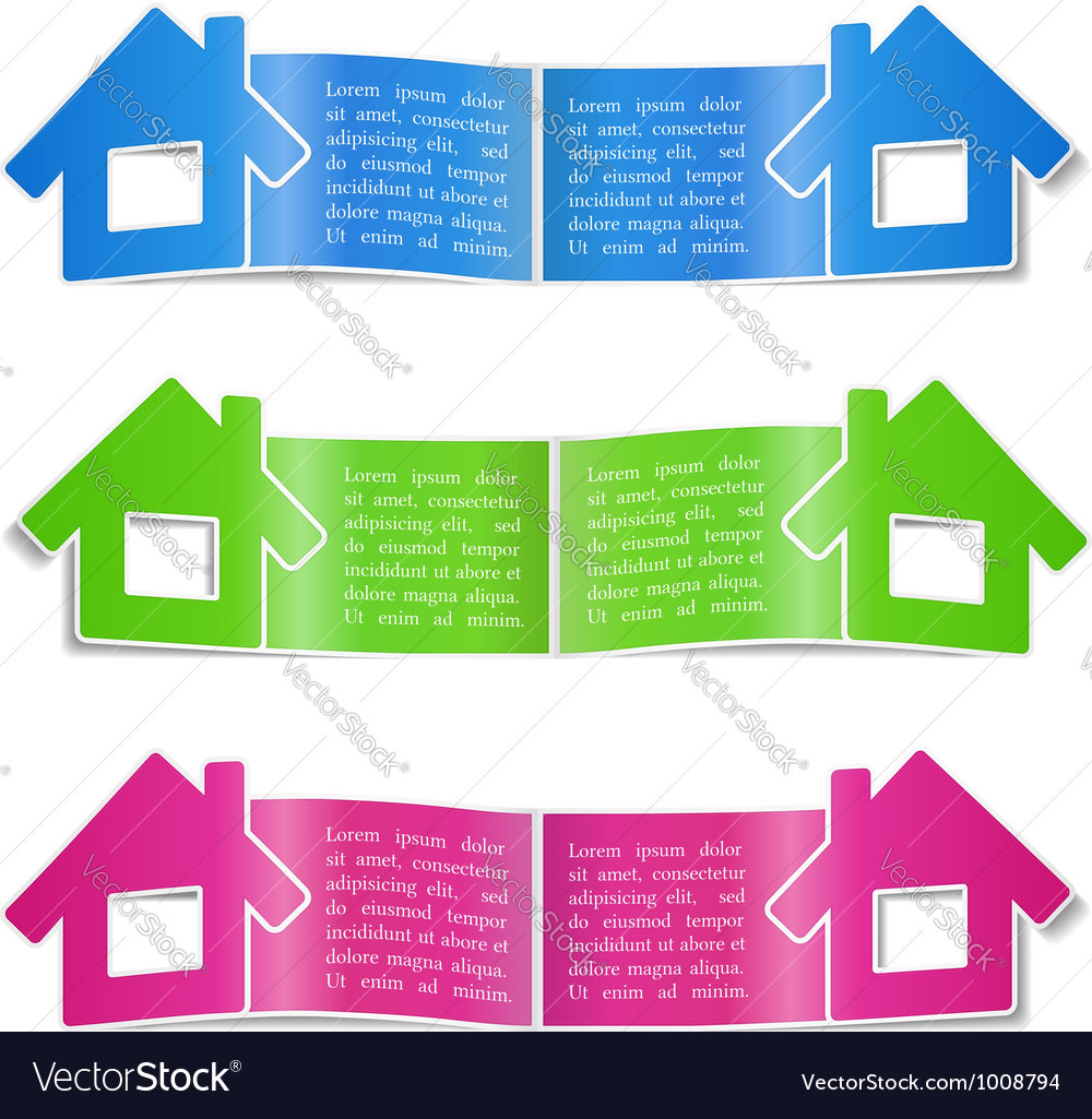 Brochure with a house vector image
