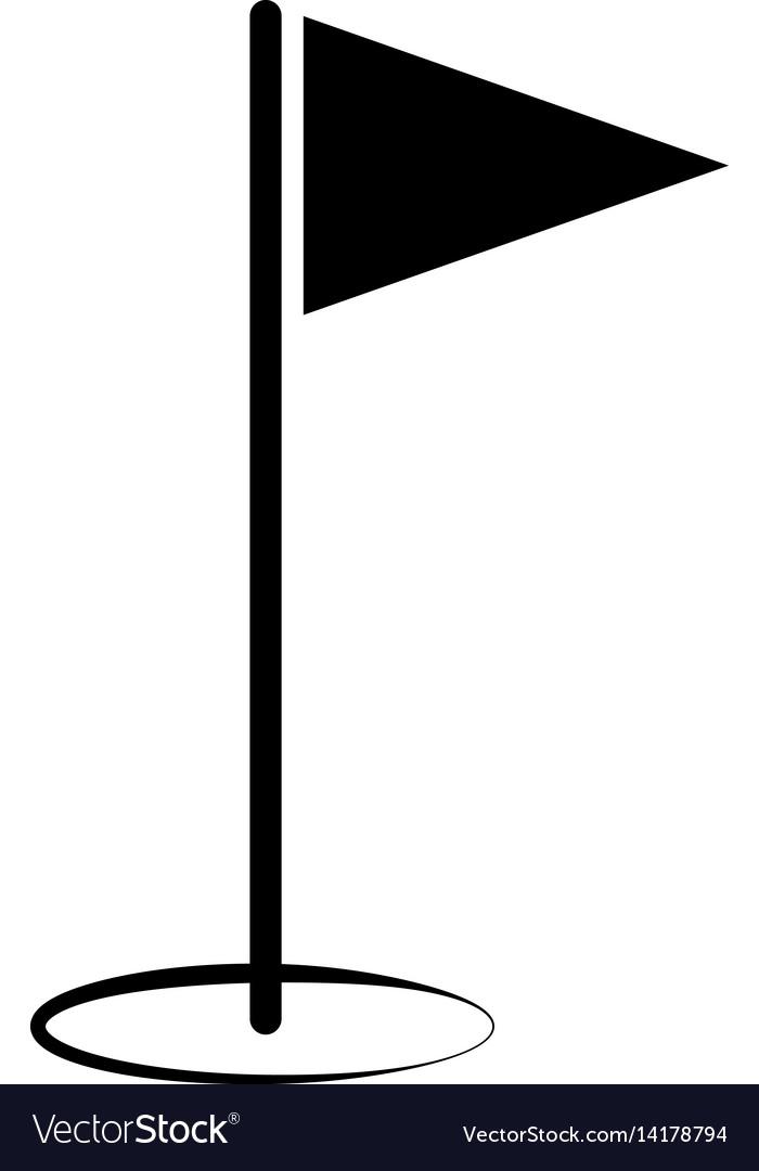 Golf flag icon vector image