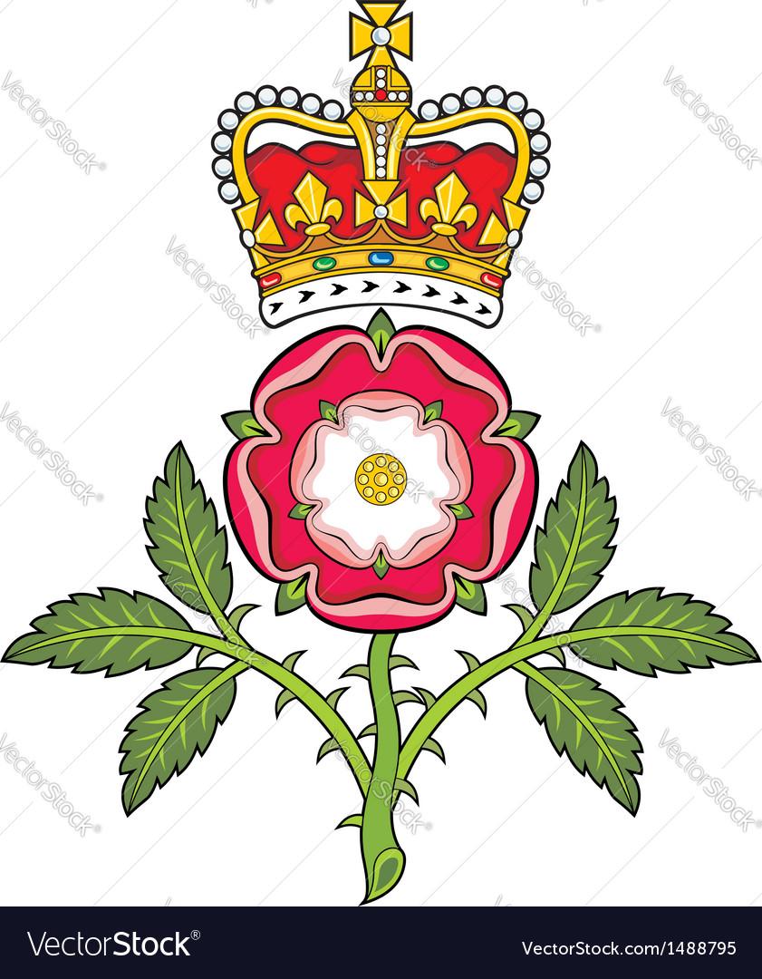 Royal badge of england heraldic tudor rose and vector image royal badge of england heraldic tudor rose and vector image buycottarizona