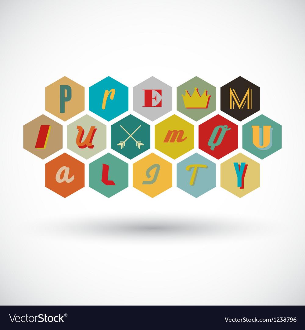 Premium quality badge vector image