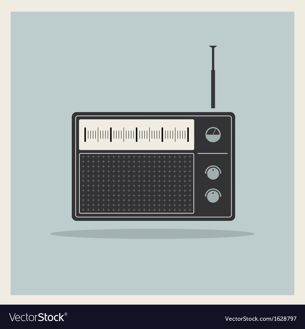 Retro radio receiver vector image