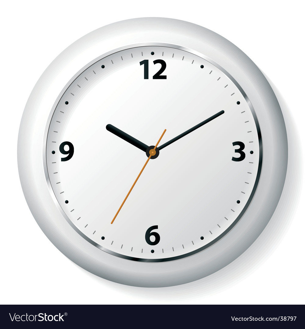 Clock on a wall Vector Image