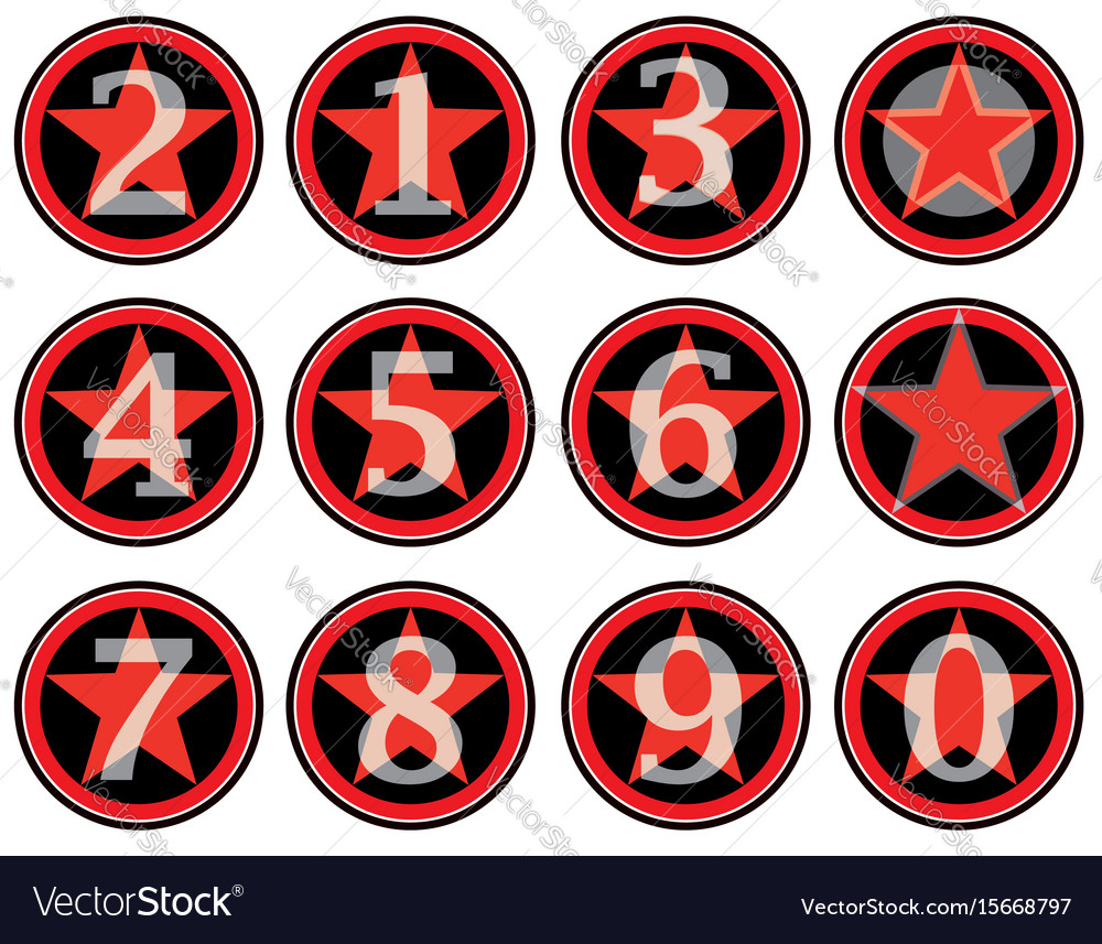 Alphabet numbers retro style american vintage vector image