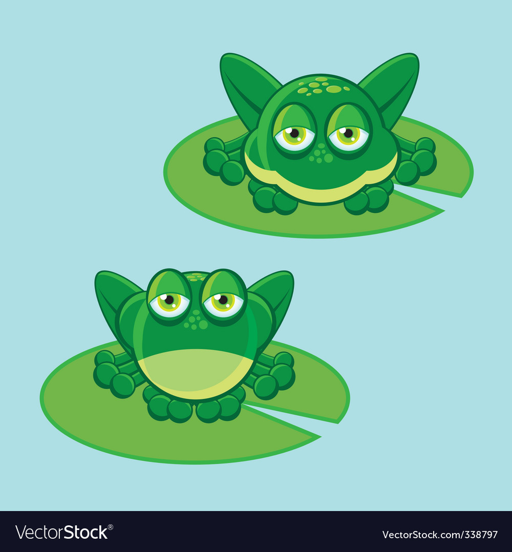 frog on leaf royalty free vector image vectorstock