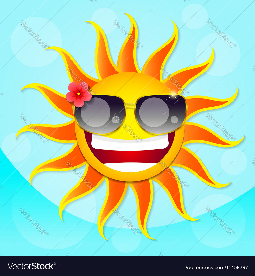 Fun sun summer vector image