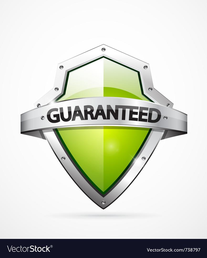 Guarantee shield vector image
