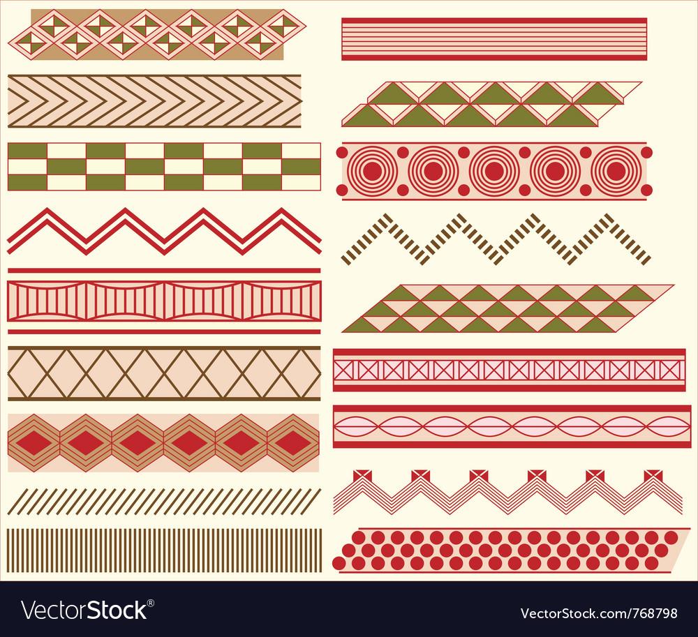 Prehistoric linear ornaments vector image