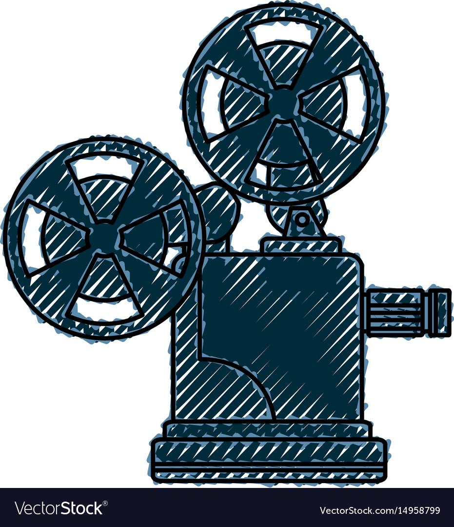 Short film video camera studio vector image