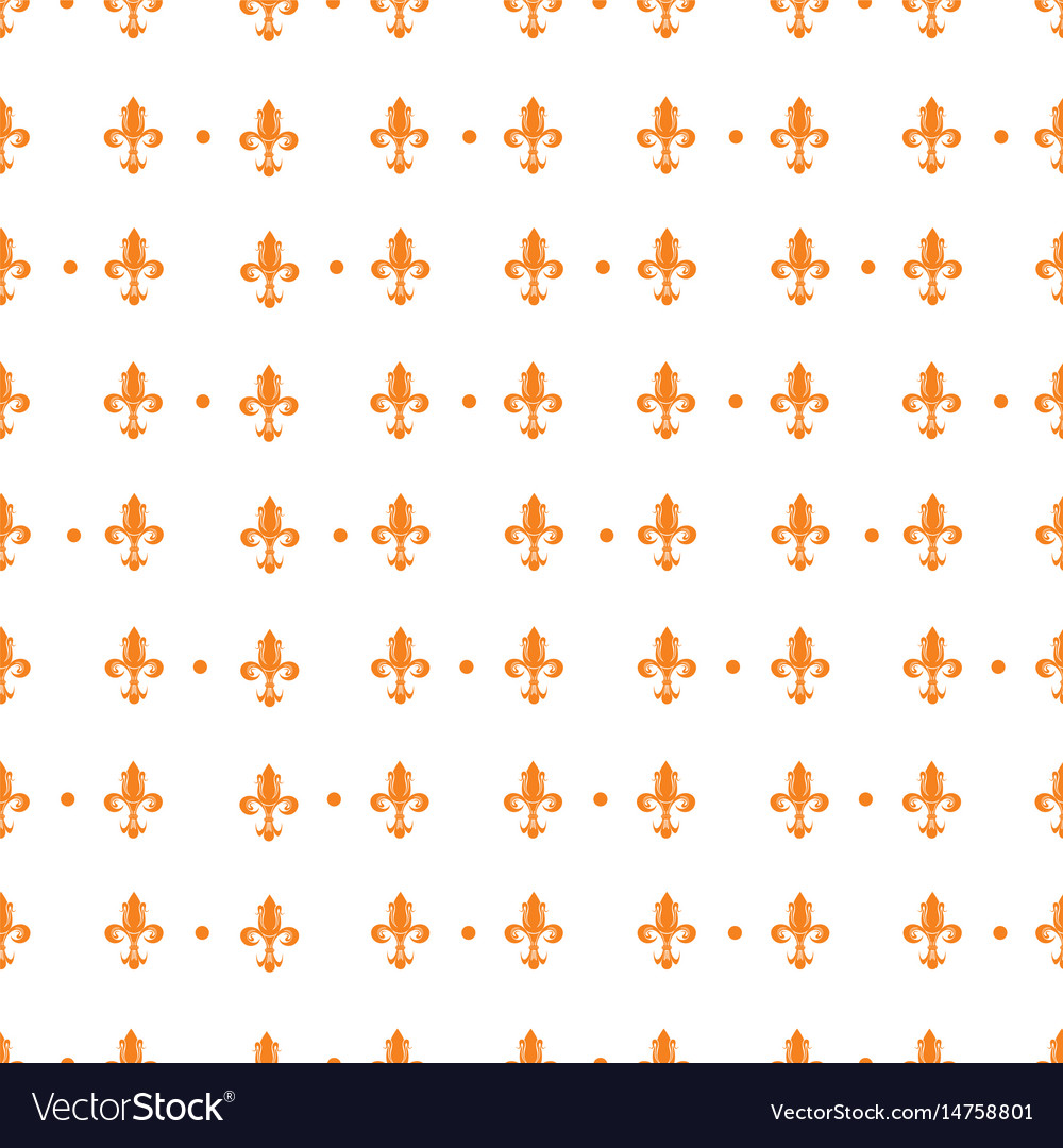 Pattern with royal lily vector image