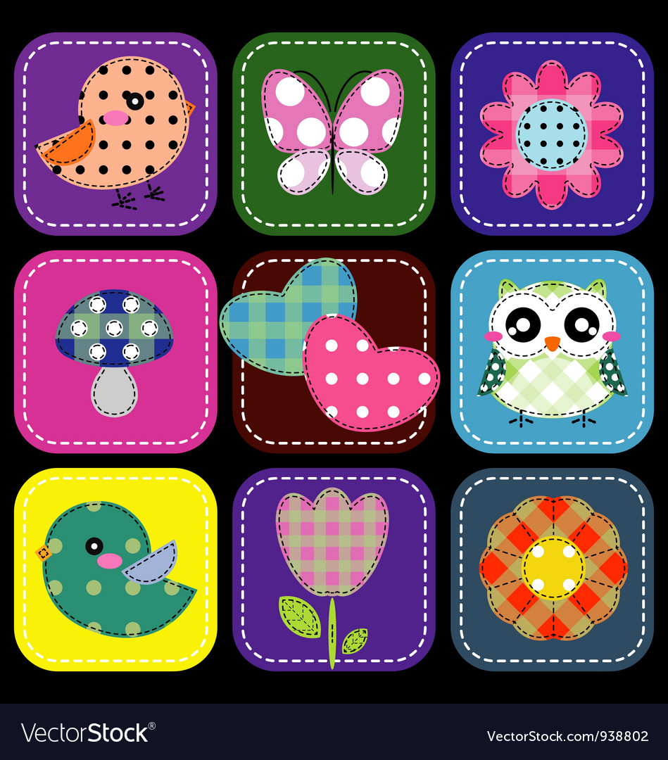 Background with heart flower and butterfly vector image
