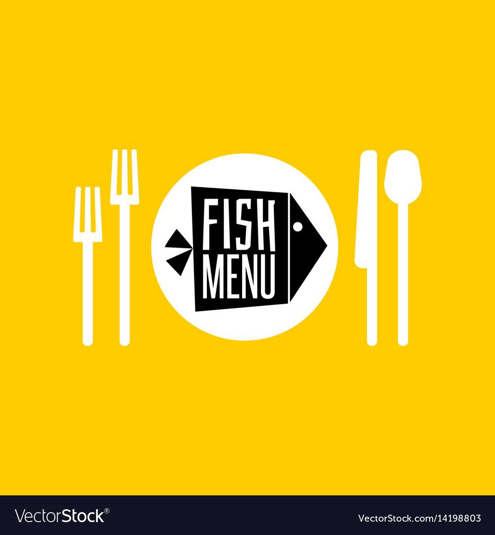 Fish menu icon vector image