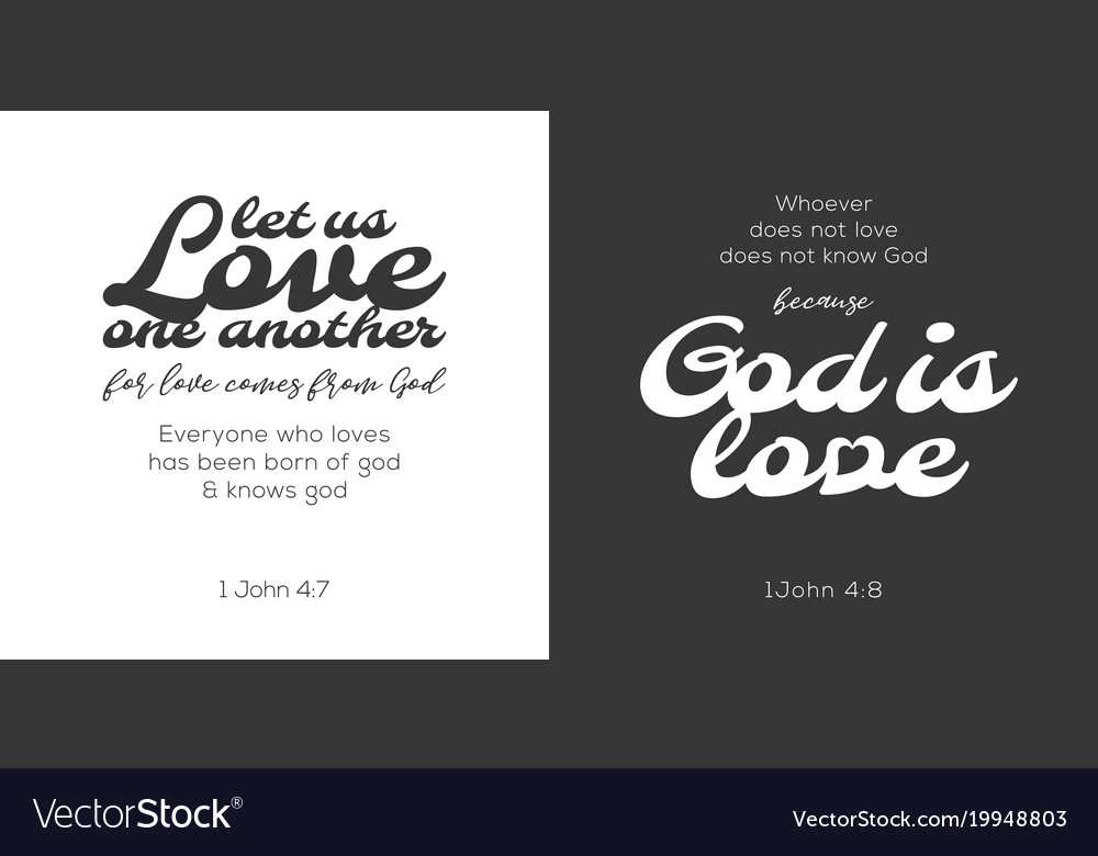 God is love verse from bible vector image