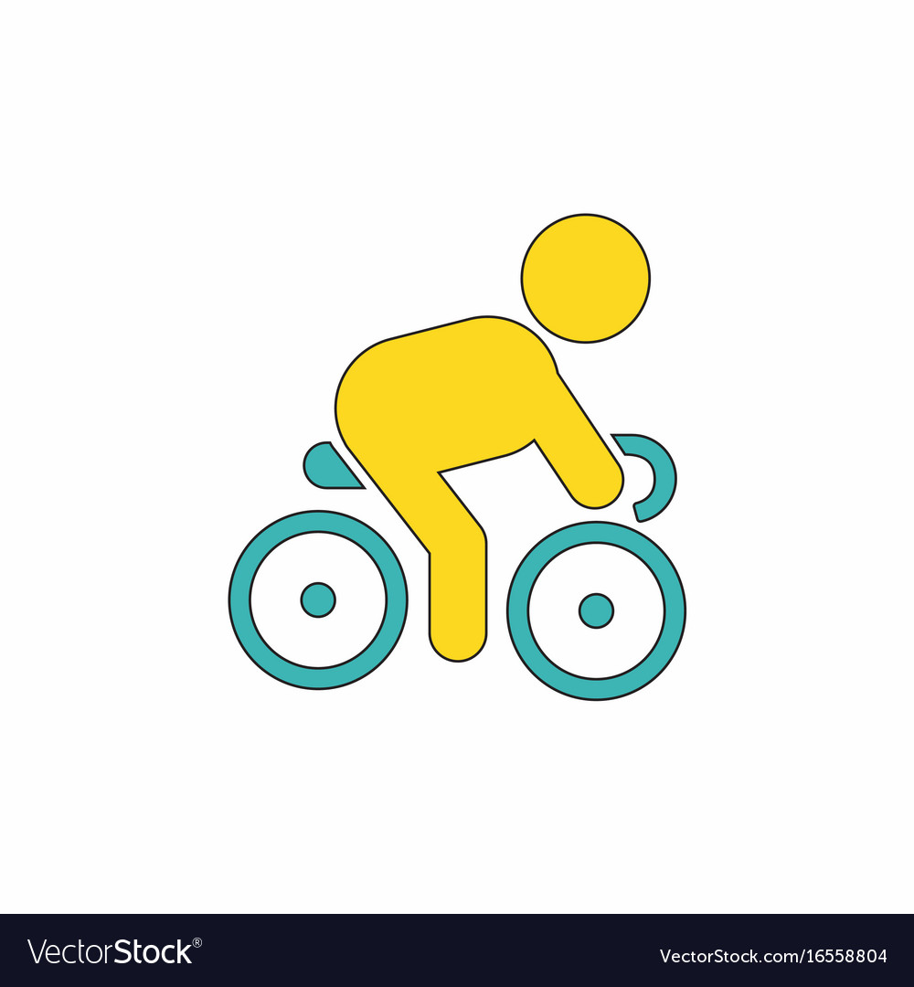 Cyclist on bicycle riding bicycle outdoors at