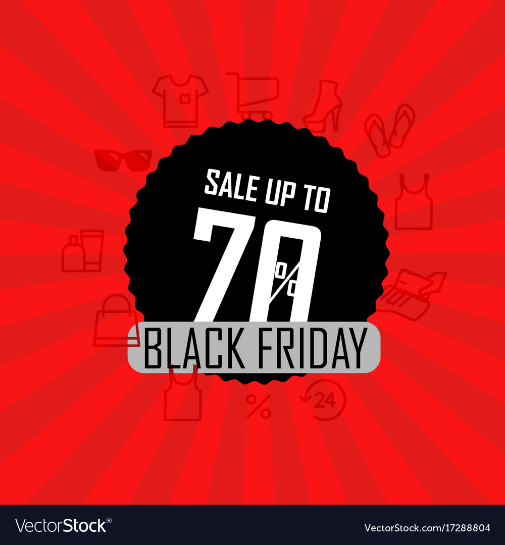Season sale banner sale up to 70 percent off vector image