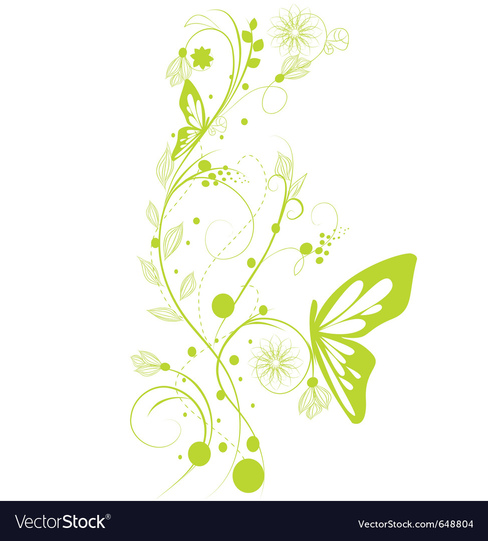 Summer vines vector image