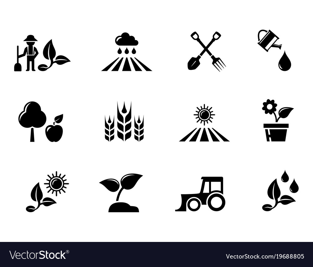 Agriculture and horticulture or gardening concept vector image