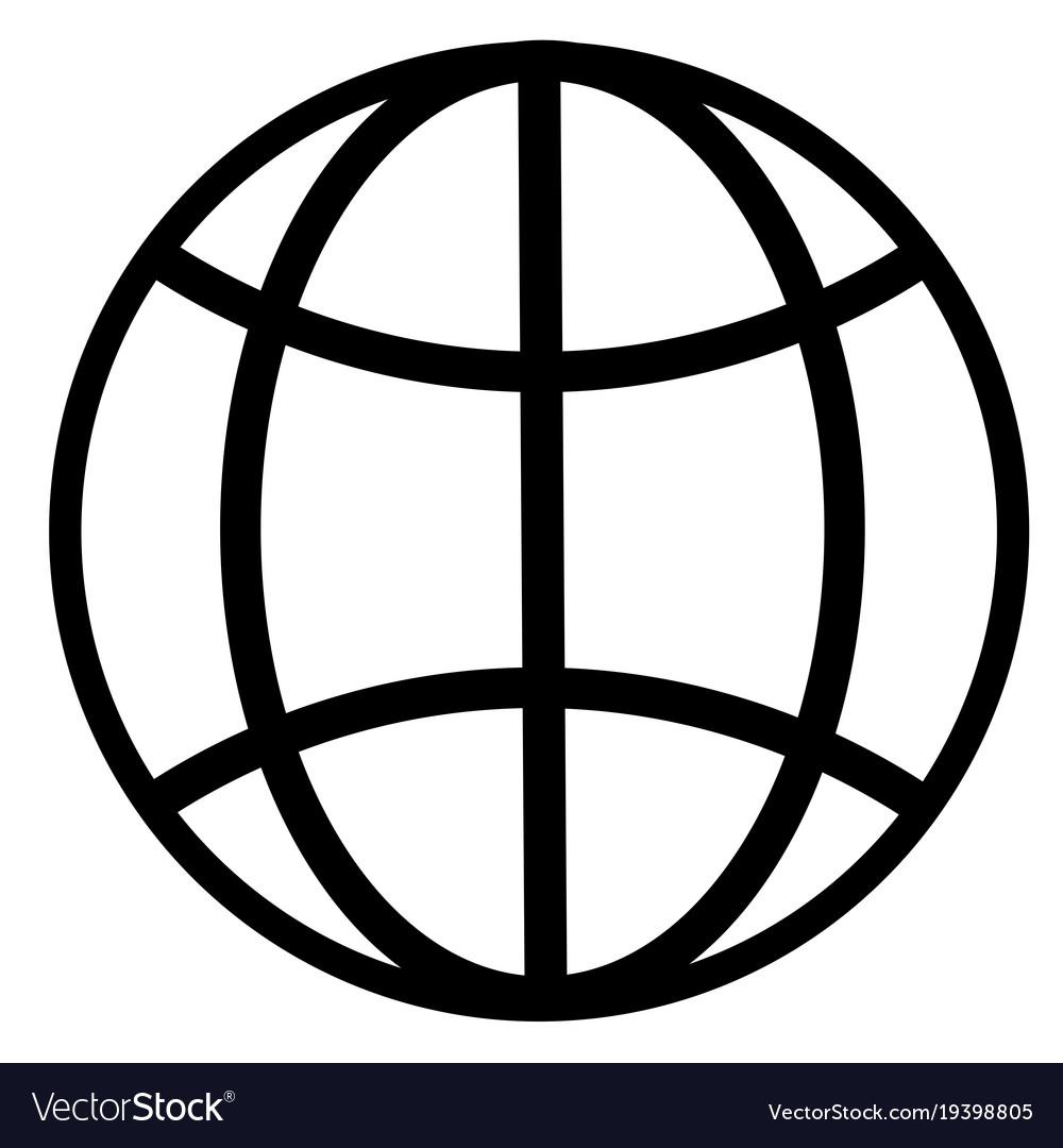 earth globe internet network planet icon vector image rh vectorstock com globe icon vector download globe icon vector png