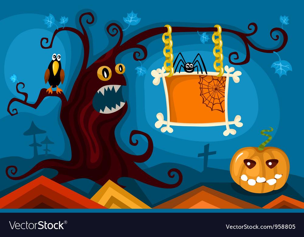 Hallowen card set Royalty Free Vector Image - VectorStock