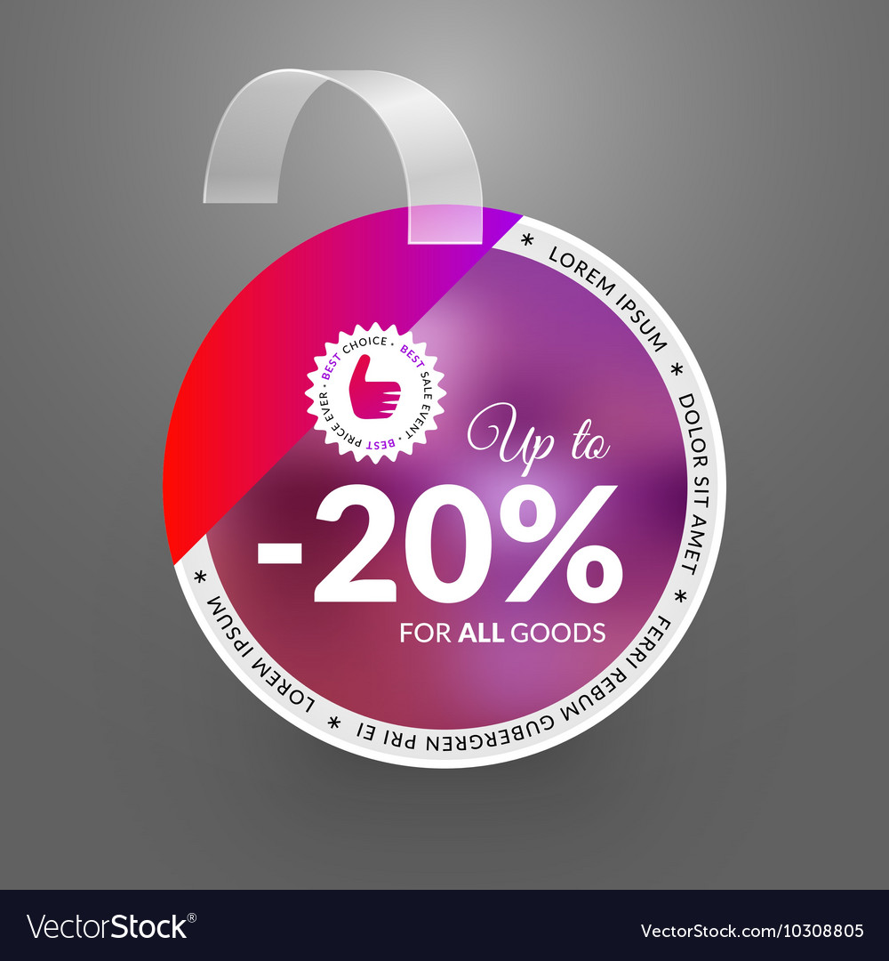 Wobbler design template for sale event vector image