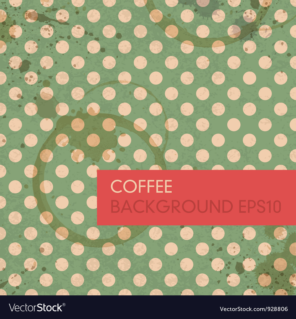 Abstract coffee rings background vector image