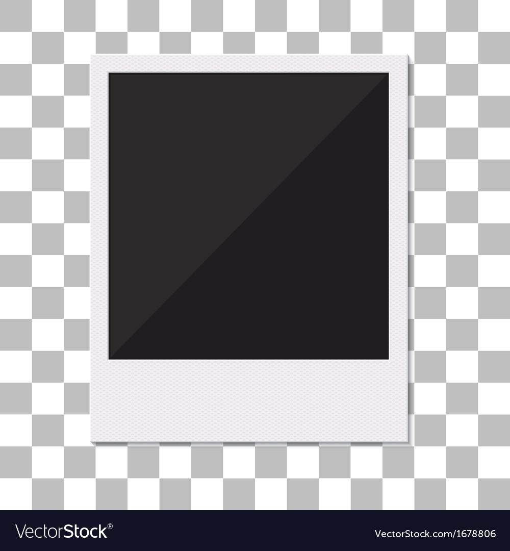 Blank retro polaroid photo frame vector image