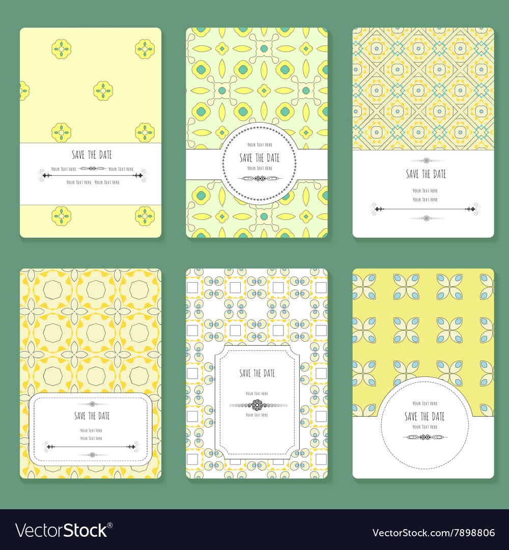 Card with graphic geometric patterns vector image