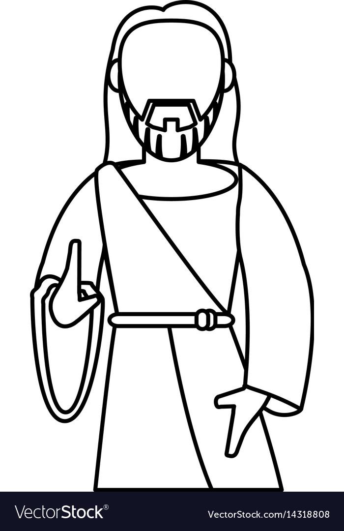 Jesus christ catholic symbol outline royalty free vector jesus christ catholic symbol outline vector image buycottarizona Image collections