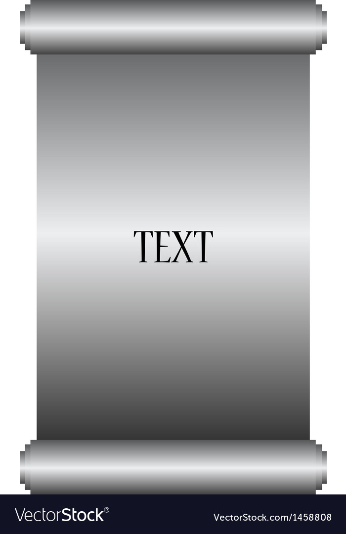 Silver manuscript vector image