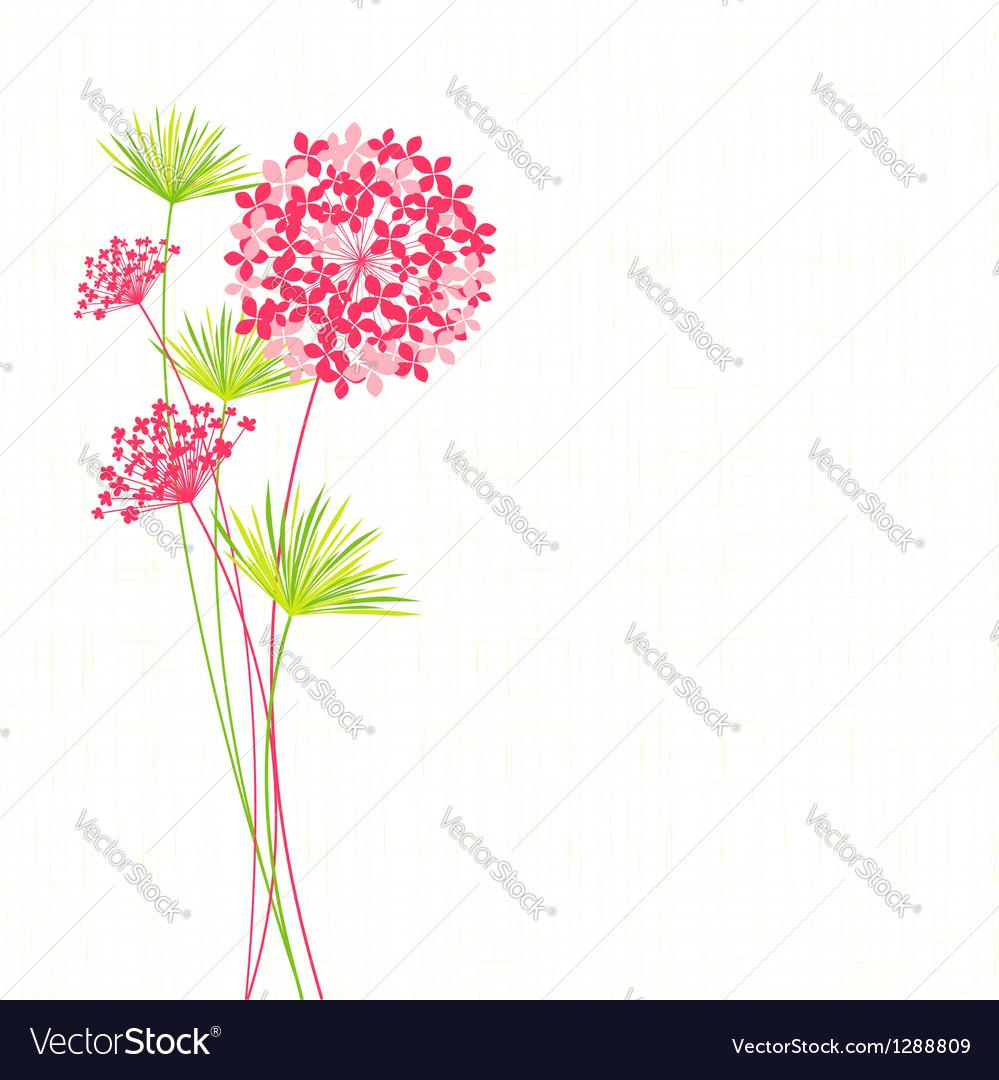 Springtime Hydrangea Flower vector image