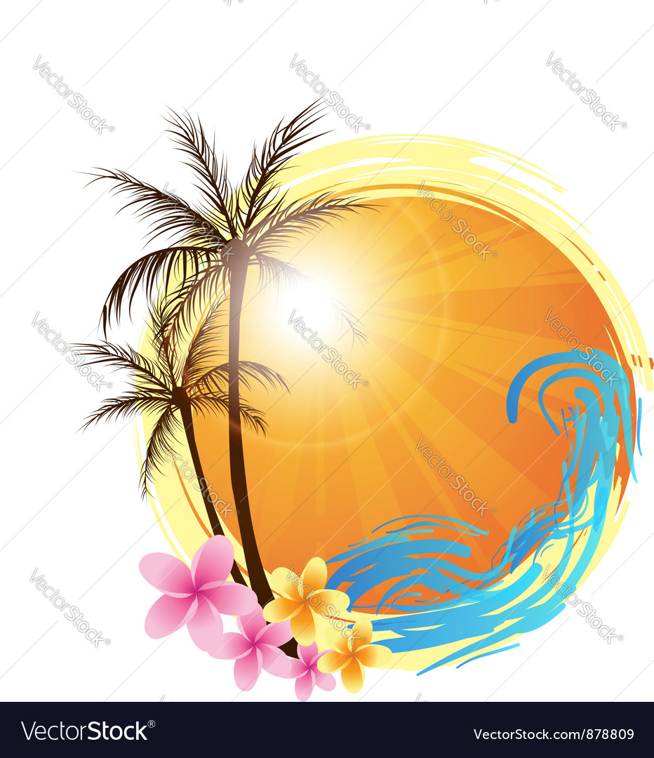 Round palm vector image
