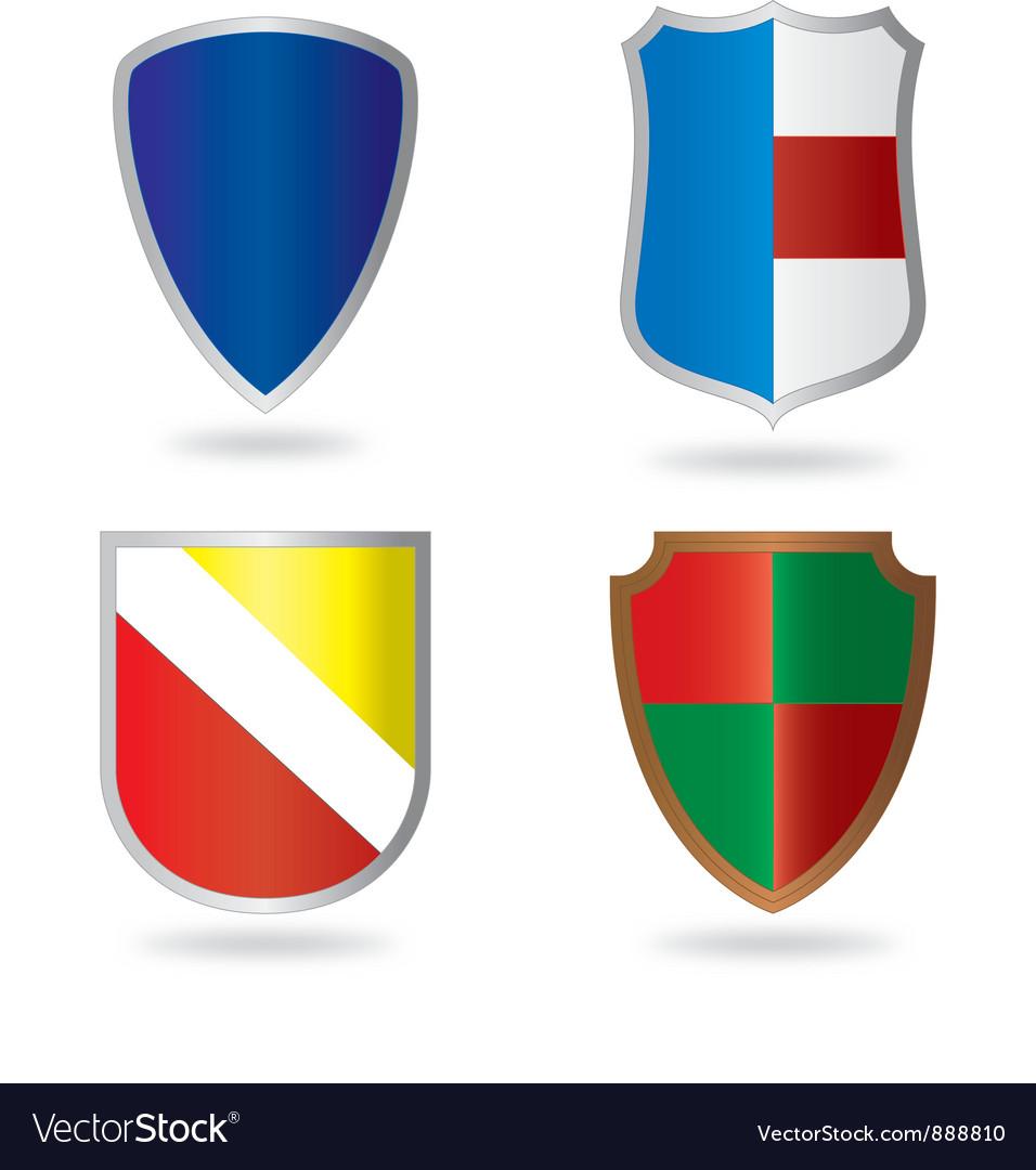 Set of Heraldry vector image