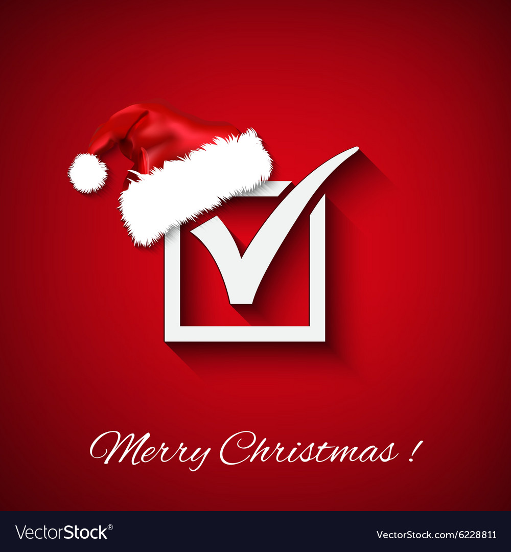 Agreement symbols with christmas hat on red vector image agreement symbols with christmas hat on red vector image biocorpaavc