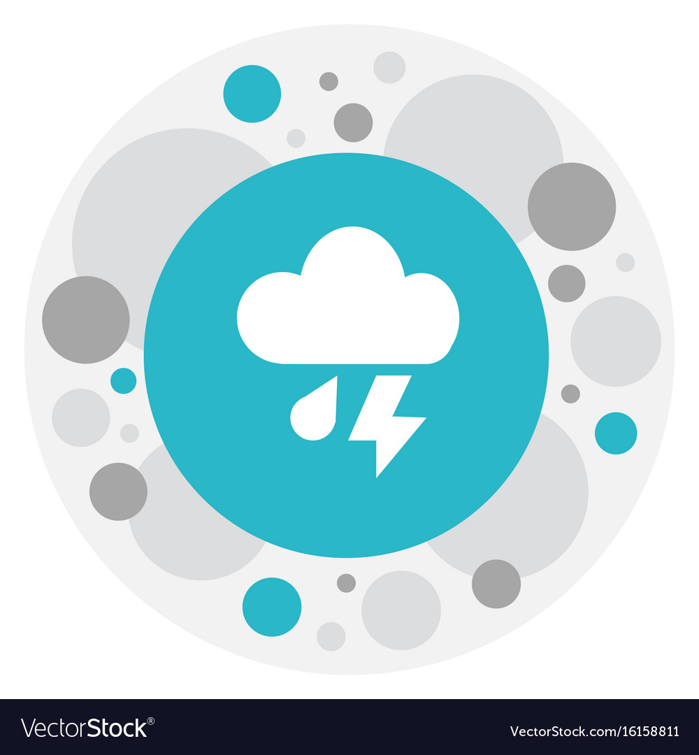 Of air symbol on cloudburst vector image