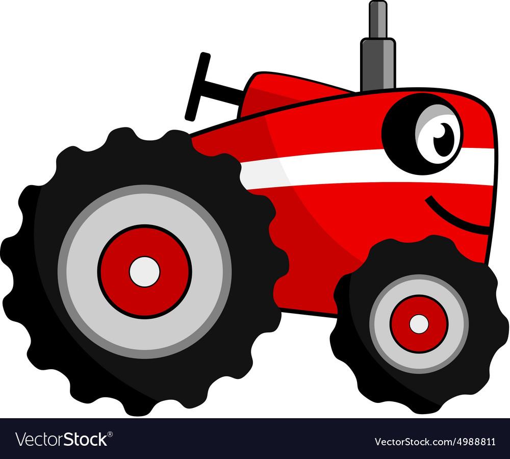 Tractor smile cartoon vector image