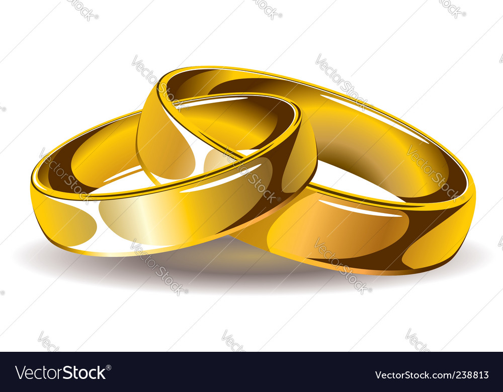 gold wedding rings vector image - Free Wedding Rings