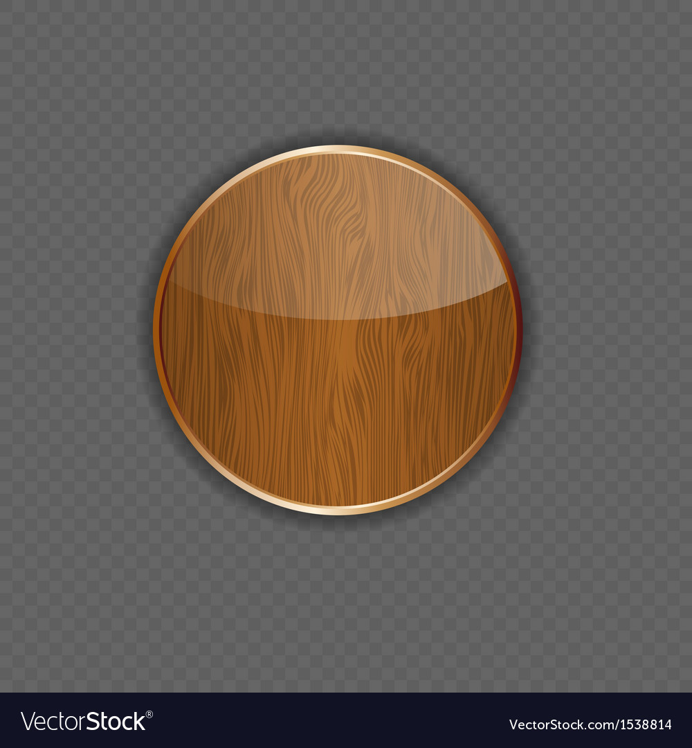 Wood application icon vector image