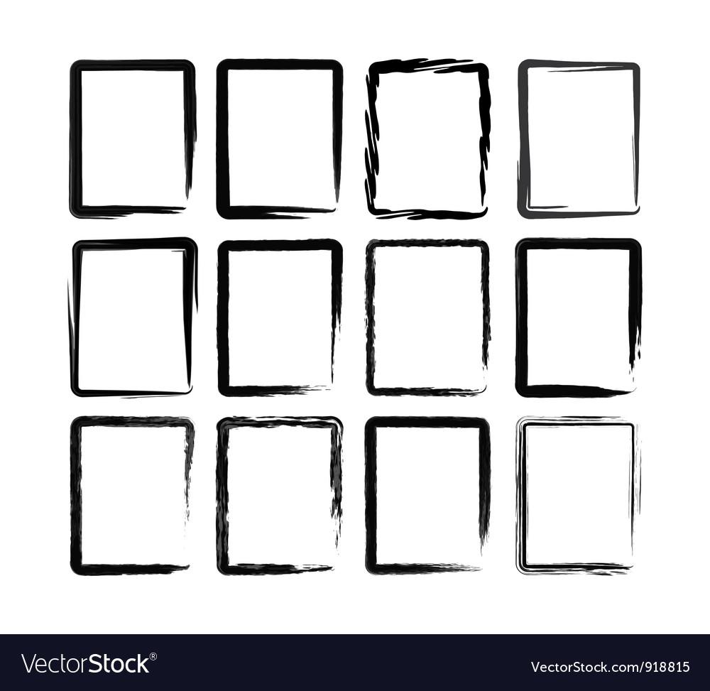 Brush blot vector image