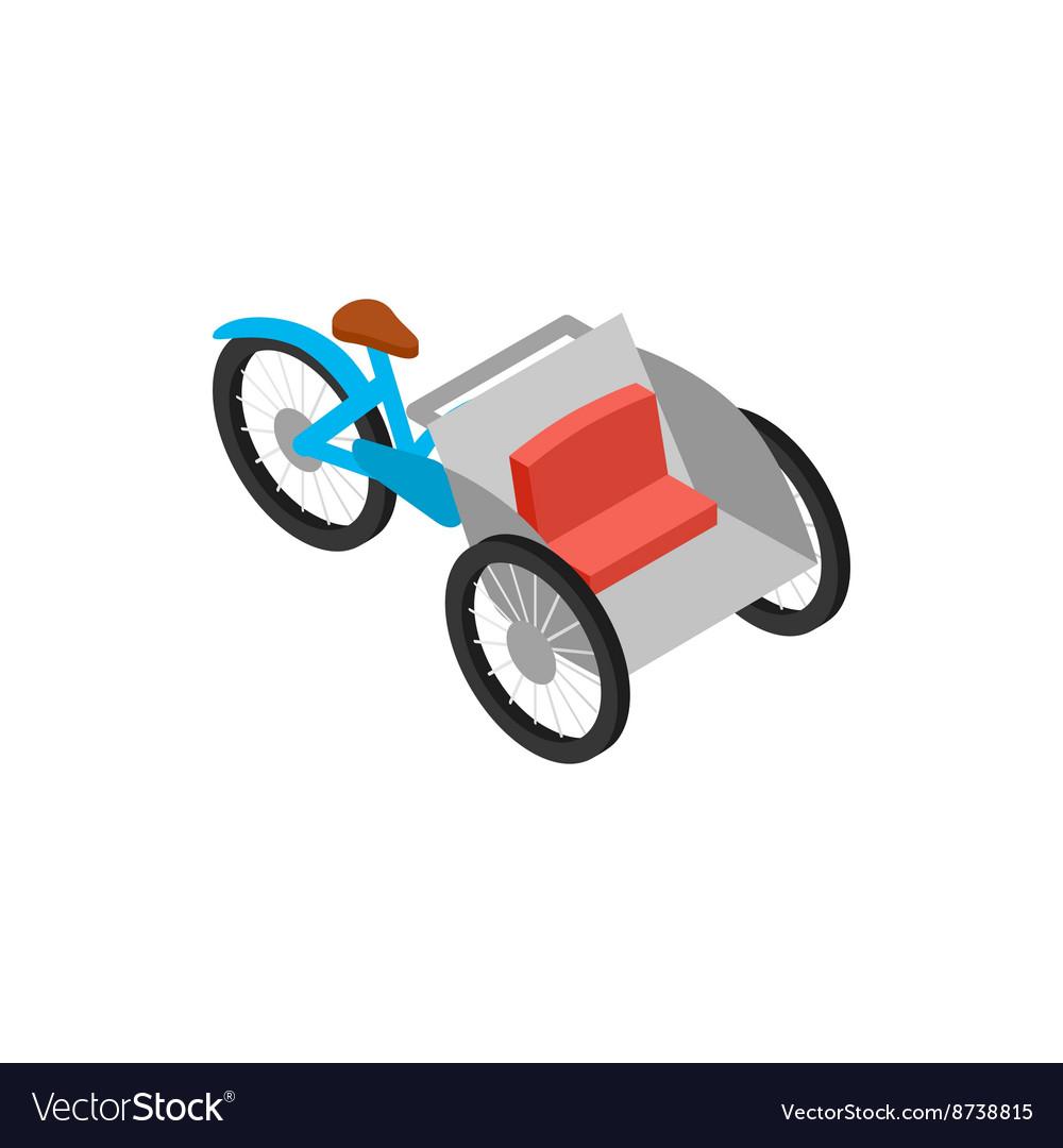Vietnamese cyclo icon isometric 3d style vector image