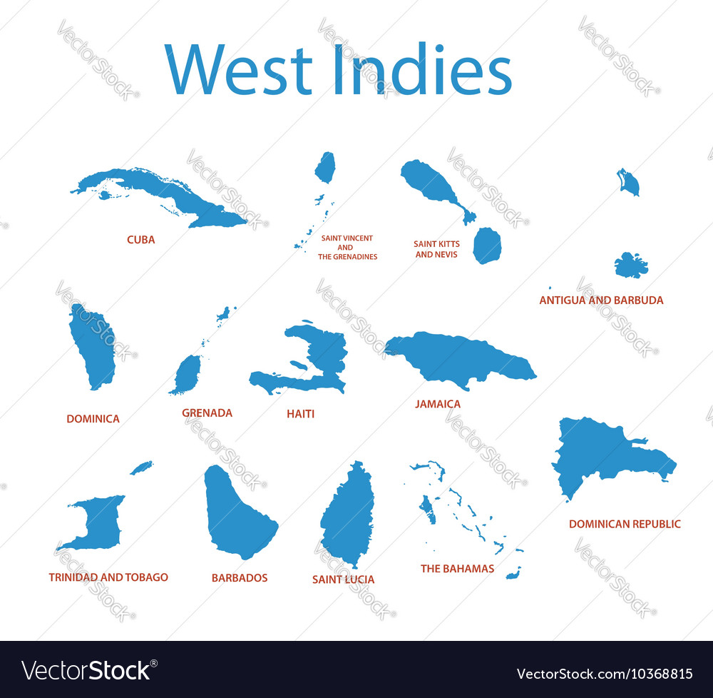 West indies maps of countries royalty free vector image west indies maps of countries vector image gumiabroncs Choice Image