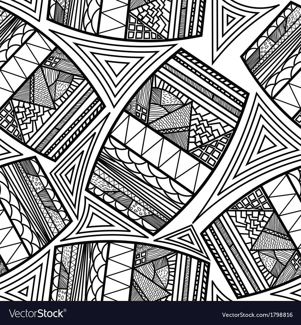 Seamless pattern with ethnic drums vector image