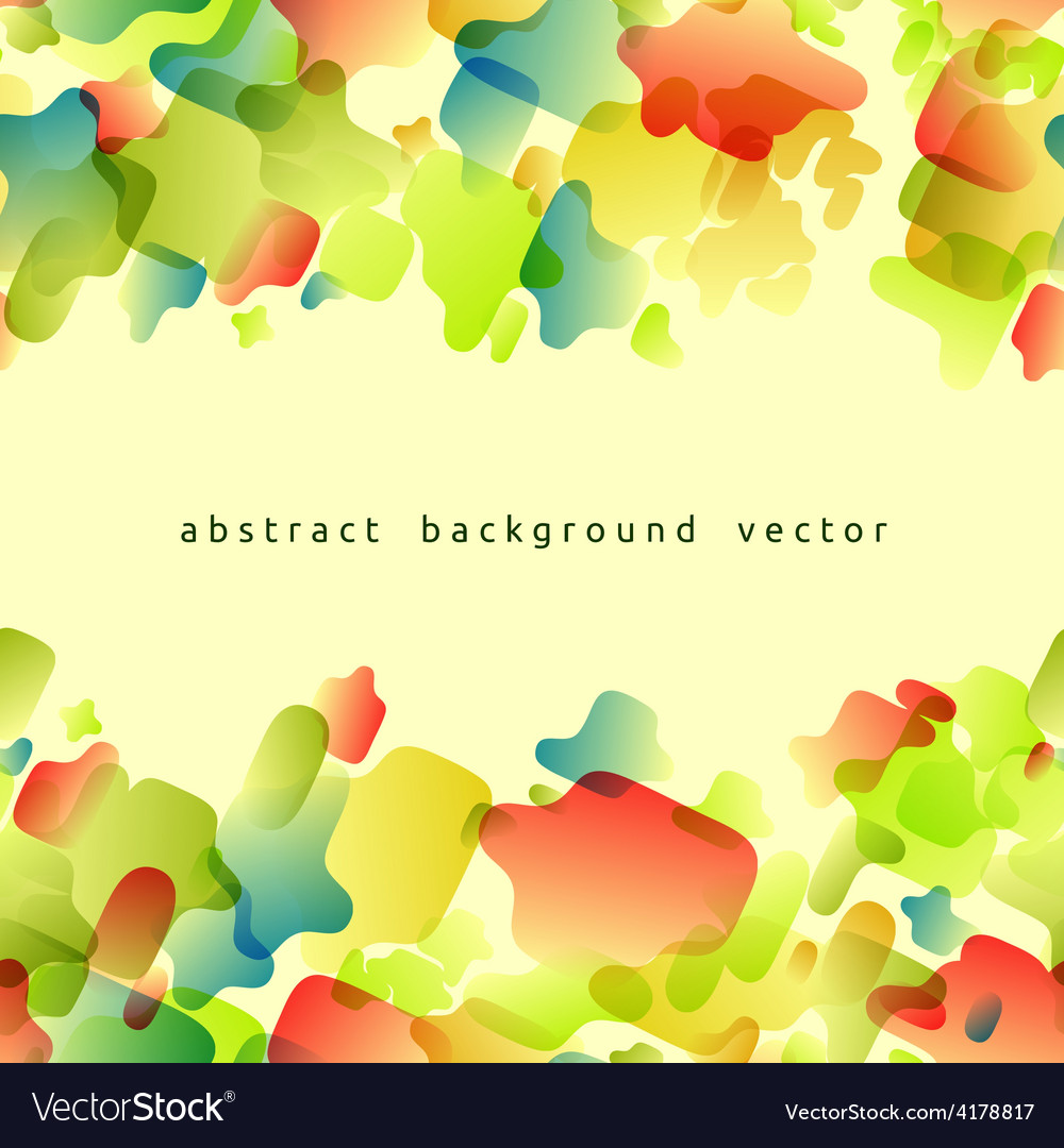 Abstract background of colored spots vector image