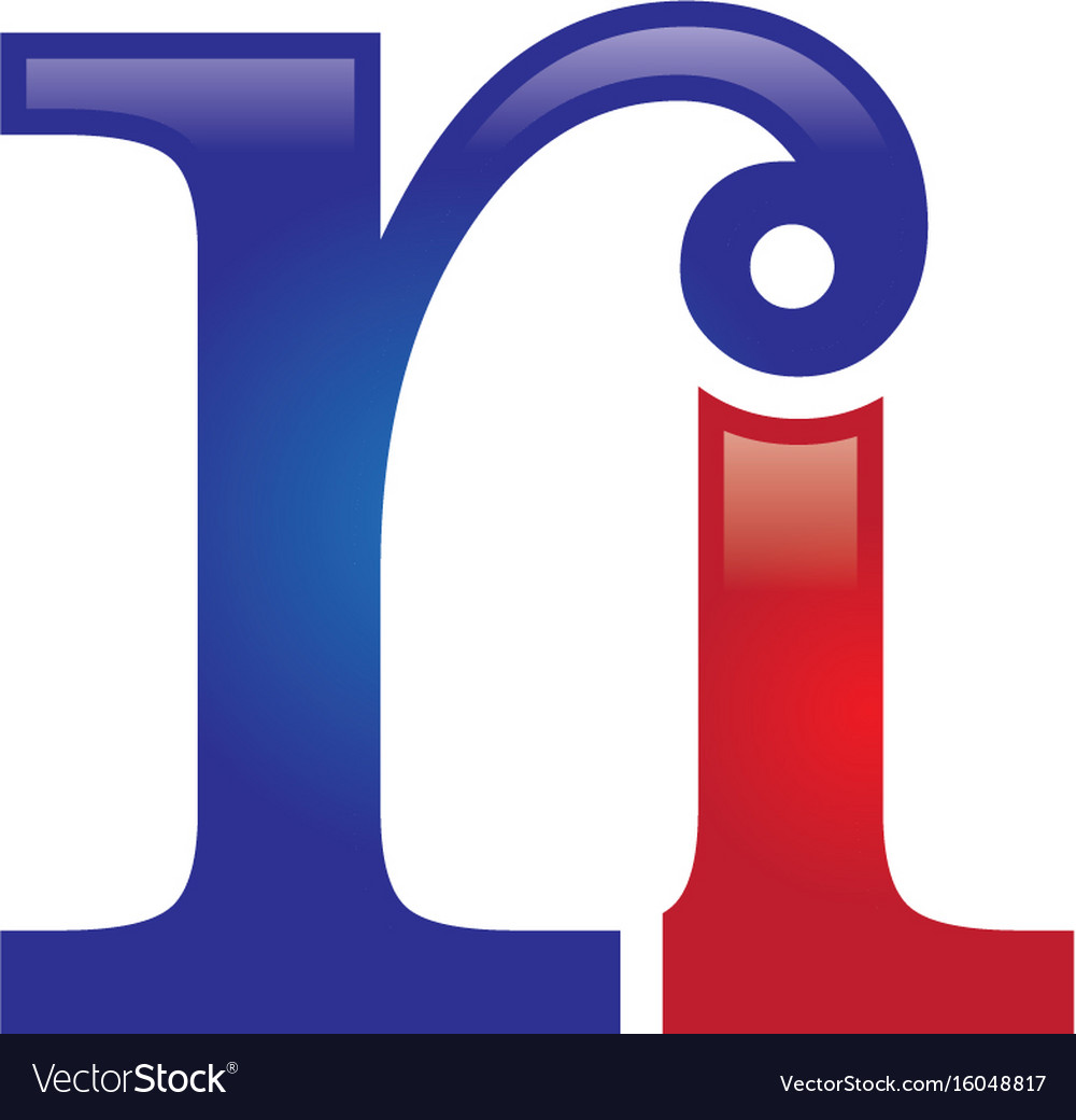 Ri letter logo vector image