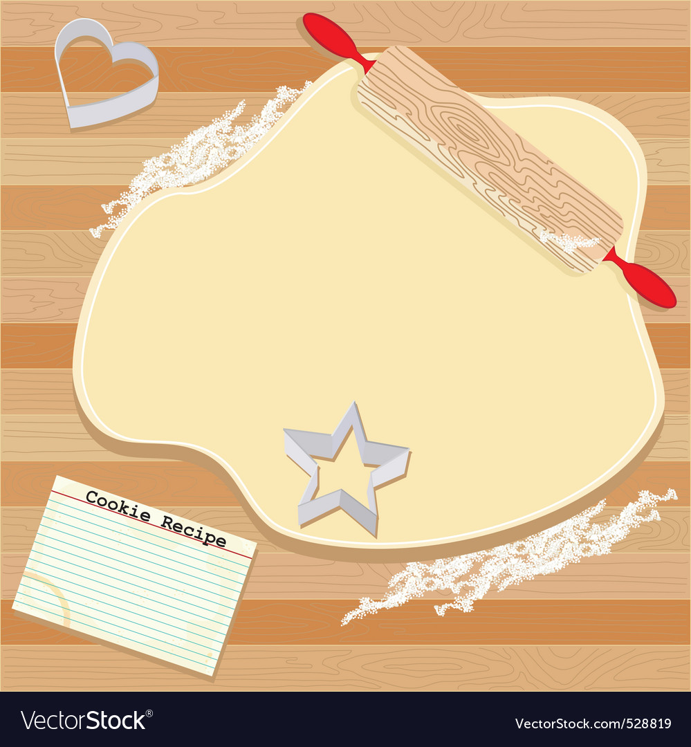Cookie party invitation vector image