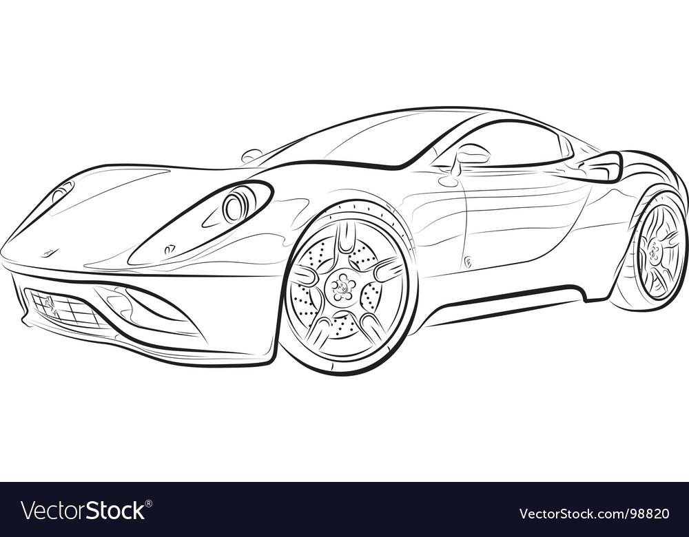 Sports Car Graphics Design