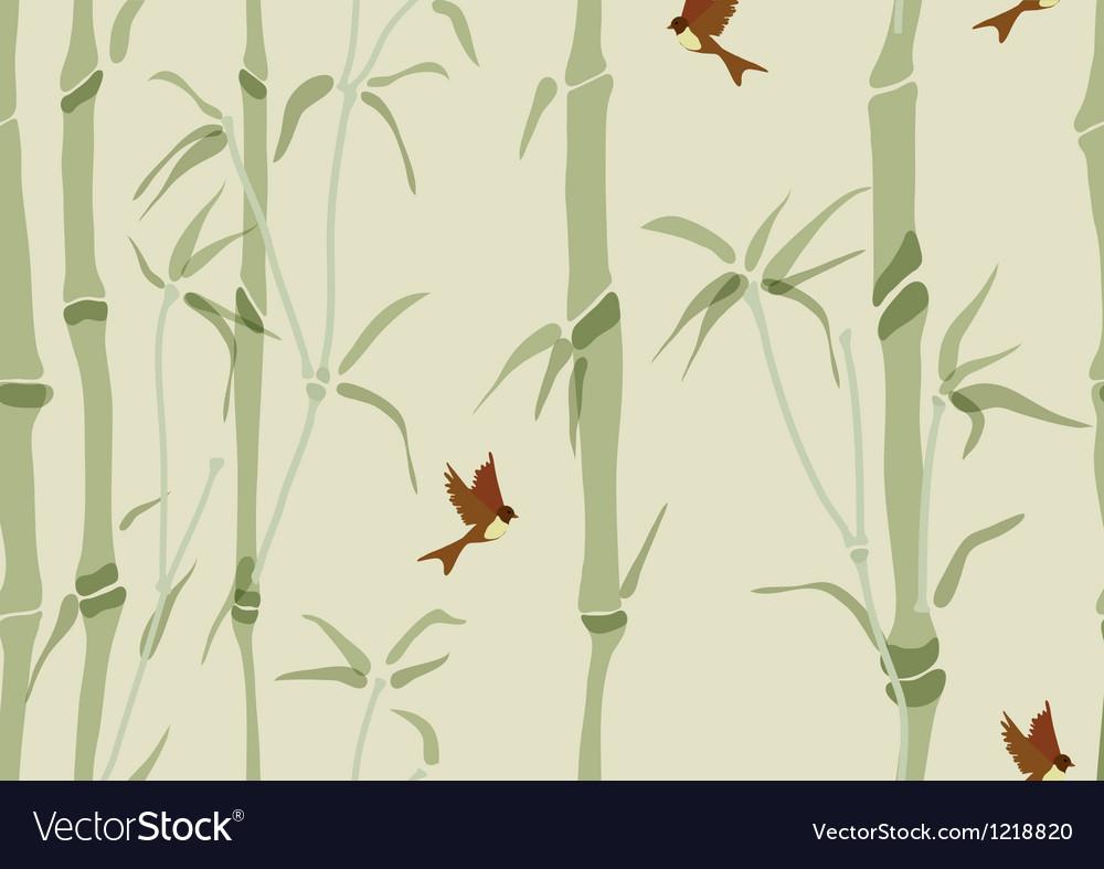 Seamless beautiful bamboo background vector image