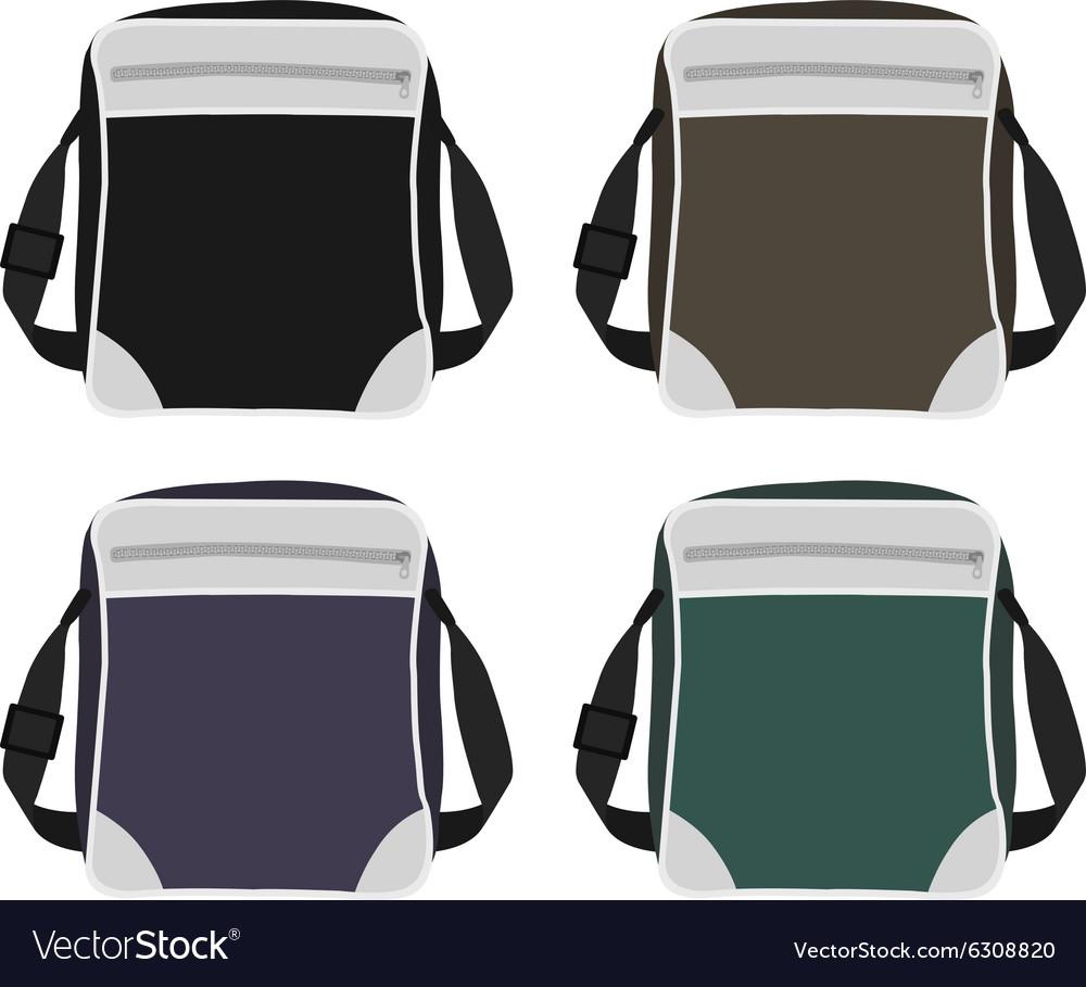Shoulder bags set vector image