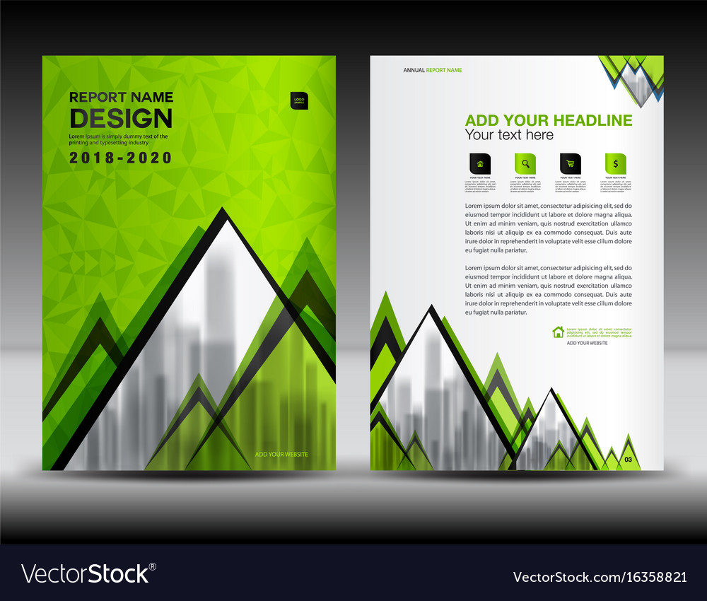 Business brochure flyer template in a4 size green Vector Image – Green Flyer Template